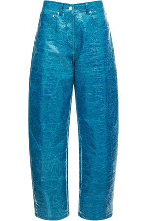 Msgm Wrinkled Faux Leather Pants