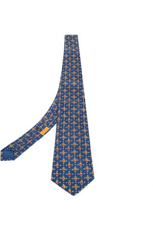 Hermès Printed Silk Traditional Tie