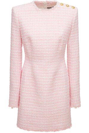 Balmain Cotton Blend Tweed Mini Dress