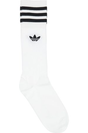 adidas Pack Of 3 Solid Crew Cotton Blend Socks