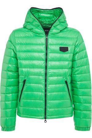 Duvetica Tolando Hooded Shiny Nylon Down Jacket
