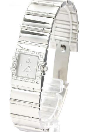 Omega Men Watches - Diamonds Stainless Steel Constellation Quadra 1528.36 Men's Wristwatch 20 MM