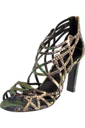 Hermès Women Sandals - Python Cage Open Toe Sandals Size 37