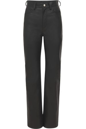REMAIN Lynn Straight Leather Trousers