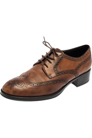 Tod's Leather Brogue Wingtip Derby Size 38.5