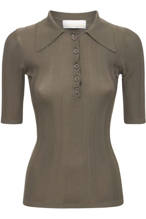 REMAIN Bircha Viscose Blend Knitted Polo Top