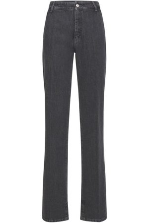 Sportmax Wide Leg Cotton Denim Pants
