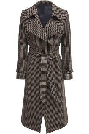 Tagliatore 0205 Carola Wool Blend Check Belted Coat