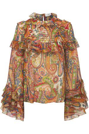 Etro Printed Silk Chiffon Blouse