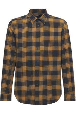 Diesel Check Cotton Flannel Shirt