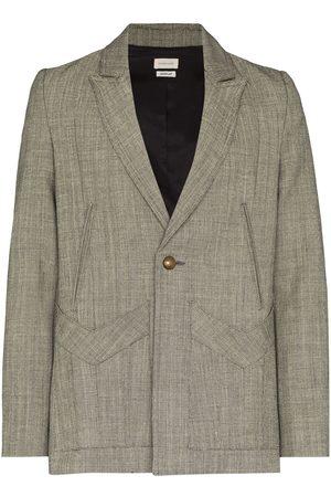 Stefan Cooke Herringbone wool blazer - Grey