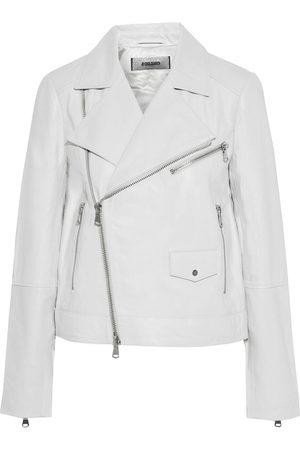 J Brand Women Leather Jackets - Woman Letty Leather Biker Jacket Light Size S