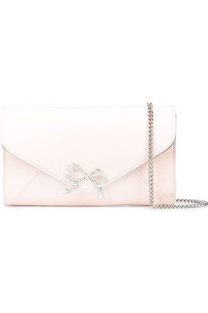 Marchesa Notte Crystal-bow clutch