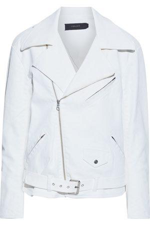 J Brand Women Leather Jackets - Woman Shelly Denim Biker Jacket Size S