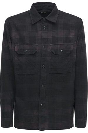 Diesel Gradient Check Cotton Flannel Shirt