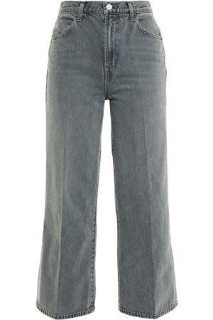 J Brand Woman Joan Cropped High-rise Bootcut Jeans Dark Size 28