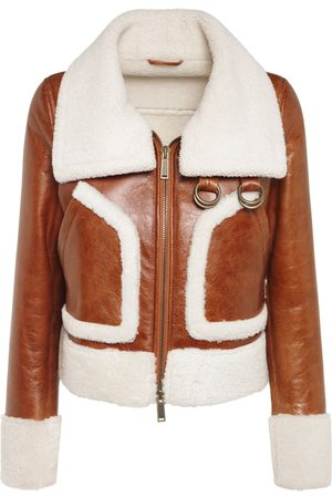 Dsquared2 Women Leather Jackets - Lamb Fur Shearling Leather Jacket