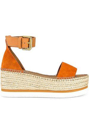 See by Chloé Glyn Flatform Sandal in Cognac.
