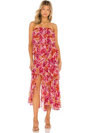 MISA Luciana Dress in Red,Pink.