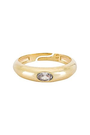 The M Jewelers Colored Arc Ring in Metallic .
