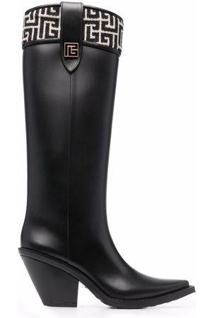 Balmain Tess jacquard-detail boots