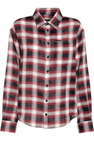 Dsquared2 Check Linen Buttoned Shirt