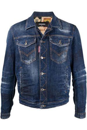 Dsquared2 Men Denim Jackets - Distressed-effect denim jacket