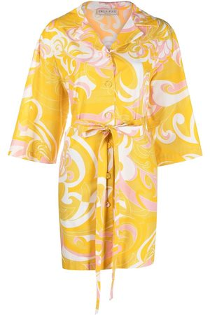 Emilio Pucci Women Casual Dresses - Abstract print shirt dress