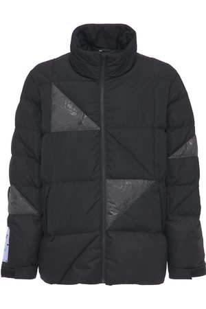 McQ In Dust Wax Patched Puffer Jacket