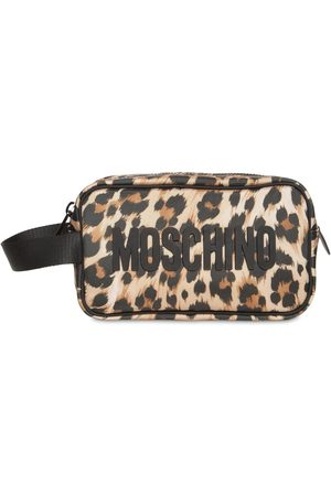 Moschino All Over Leopard Toiletry Bag