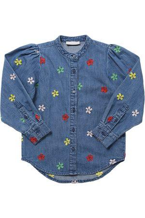 Stella McCartney Embroidered Flowers Cotton Shirt
