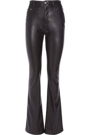 ERMANNO SCERVINO Faux Leather Wide Leg Pants