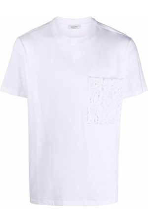 VALENTINO Lace pouch pocket T-shirt