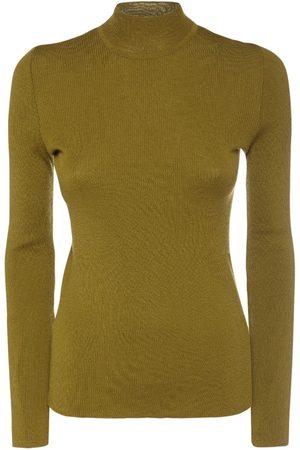 Alberta Ferretti Wool Knit Turtleneck Sweater