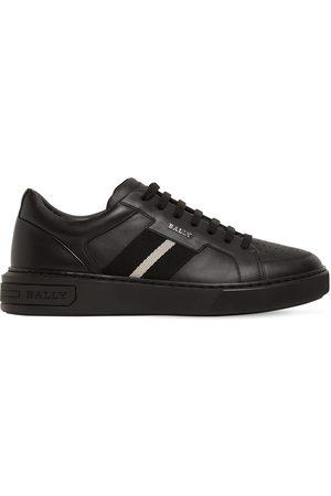 Bally Logo Stripe Leather Sneakers