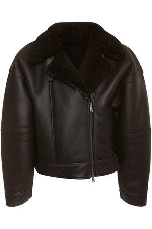 Max Mara Leather & Shearling Biker Jacket