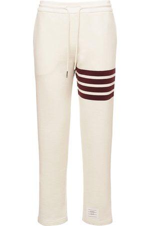Thom Browne Cotton Jersey Straight Leg Sweatpants