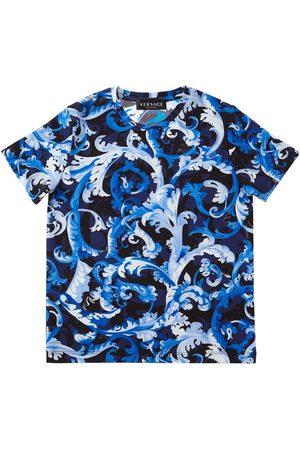 VERSACE Printed Jersey T-shirt