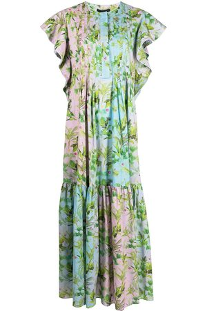 Cynthia Rowley Women Printed Dresses - Nairobi tropical-print kaftan dress