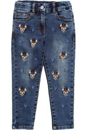 MONNALISA All Over Bambi Stretch Jeans
