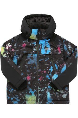 Diesel Printed Recycled Nylon Puffer Ski Jacket
