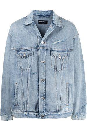 Balenciaga Distressed-effect denim jacket