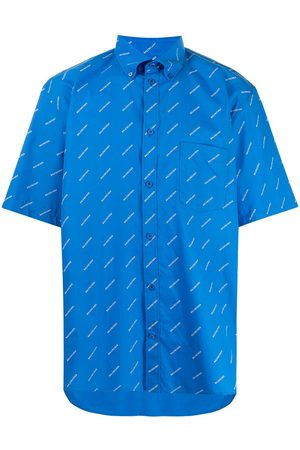 Balenciaga Men Short sleeves - Logo print short-sleeve shirt