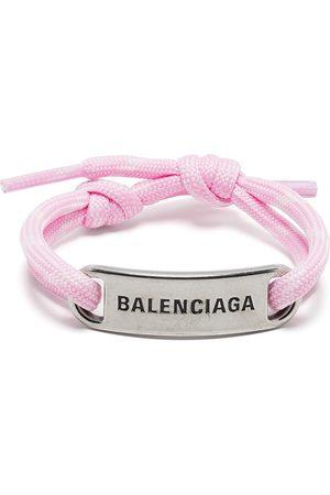Balenciaga Logo-plaque shoelace bracelet