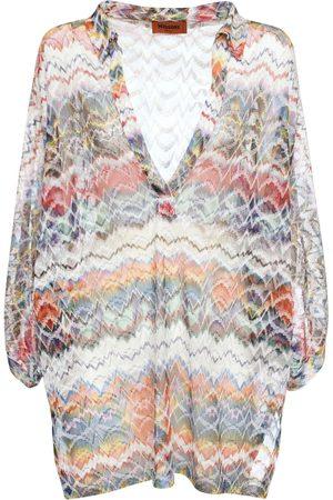 Missoni Viscose Lurex Knit Cover-up Mini Dress