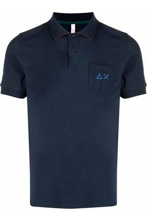 sun68 Men Polo Shirts - Motif-embroidered polo shirt