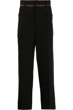 Bed J.W. Ford Zig-zag stitch tapered trousers