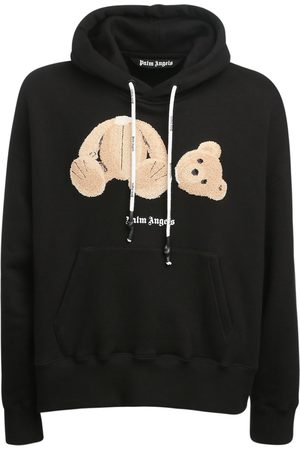 Palm Angels Cotton Jersey Hoodie W/ Bear Patch