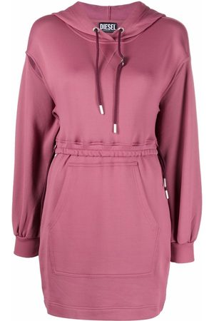 Diesel Women Hoodies - Cut-out detail hoodie dress