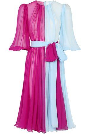 Dolce & Gabbana Women Party Dresses - Two-tone semi-sheer dress